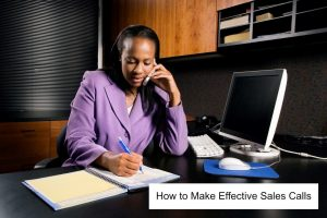 Image of girl on phone for article how to make effective sales calls
