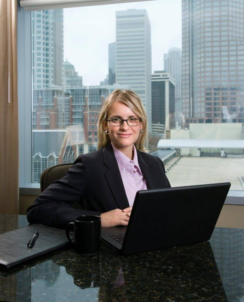 woman with laptop for video on technology startups