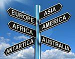 Continents signpost