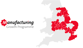 Manufacturing Growth Programme MGP logo and map