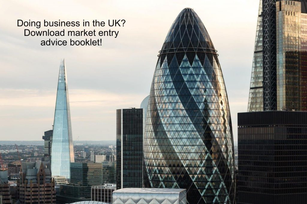 High rise buildings London to illustrate article on doing business in the uk